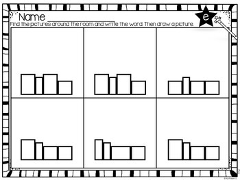 Long Vowel Write the Room - Editable