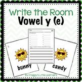 Long Vowel Y (e) Write the Room