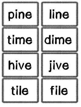 Long Vowel ZAP card game