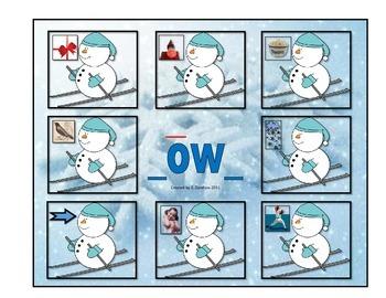 """Long Vowel """"_ow"""": File Folder"""