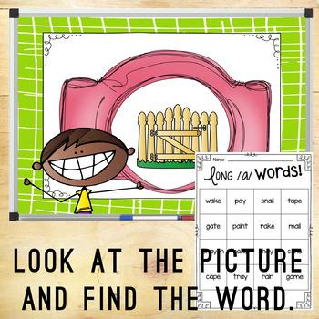 Long Vowel /a/ Hunt & Find Game