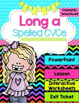 Long Vowel a Magic e Interactive Powerpoint