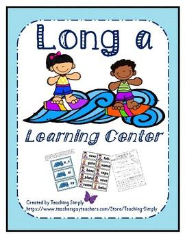 Literacy Center - Long a - Phonics - Reading