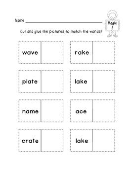 Long Vowel a: Magic E Words