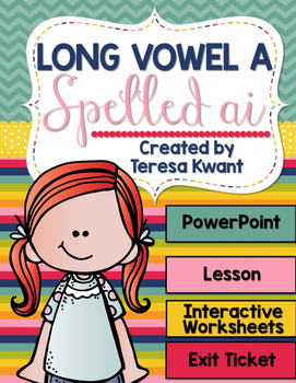 Long Vowel a Spelled ai Interactive PowerPoint