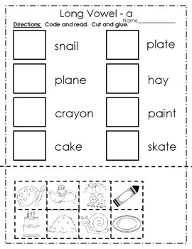 Long Vowel a Practice Pages
