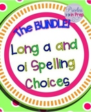 Long Vowel ai oi Spelling Choices Picture Sorts and Write