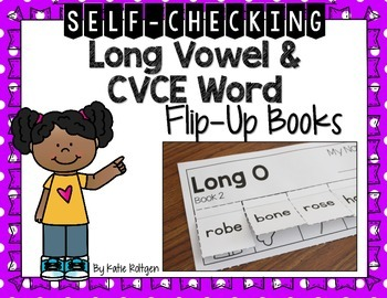 Long Vowel and CVCE Word Flip-Up Books