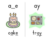 Long Vowel and Diphthong Zaner-Bloser Phonics Cards