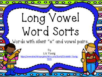 Long Vowel and Long Vowel Pairs Word Sort