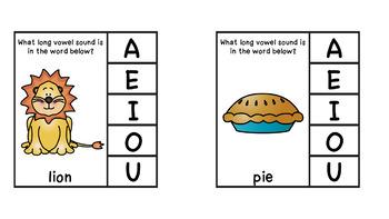 Long Vowel and Short Vowel Clip Cards