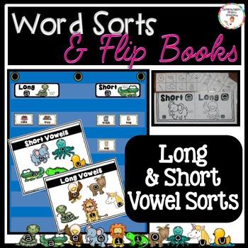 Long Vowel and Short Vowel Sorts: Word Sorts, Flip Books,