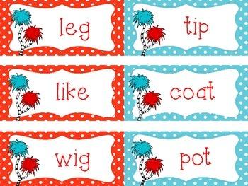 Long Vowel and Short Vowel Word Sort