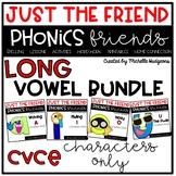 Long Vowel cvce BUNDLE, Phonics Friends Character Only, Ju