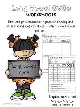 Long Vowel cvce Worksheets