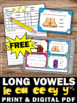 FREE Long e Vowel Team Activities, Long Vowel Task Cards