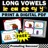 FREE Long Vowel Activities, ie, y sounds like e, ea, ey, ee Vowel Teams