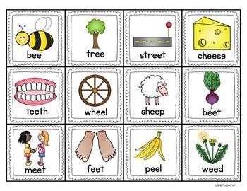 Long Vowel e Literacy Centers