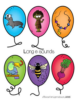 Long Vowel e Picture & Word Sort
