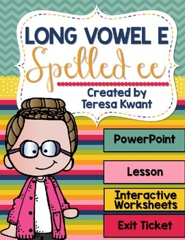 Long Vowel e Spelled ee Interactive PowerPoint