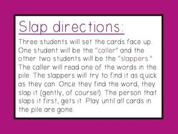 Long Vowel i: Slap Game