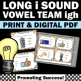 igh Long Vowel Activities, Phonics Centers, Long Vowels Task Cards