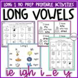 Long i Vowel Team Activities - Vowel Digraphs & CVCe patte