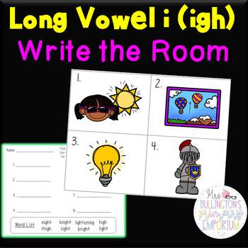 Long Vowel i igh Write the Room Activity
