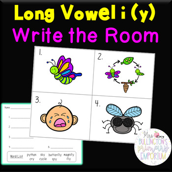 Long Vowel i _y Write the Room Activity