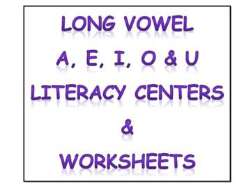 Long Vowel literacy centers