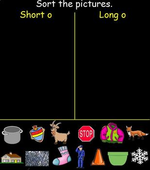 """Long Vowel """"o"""" Instruction for the SMART Board"""