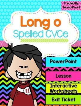 Long Vowel o Magic e Interactive PowerPoint