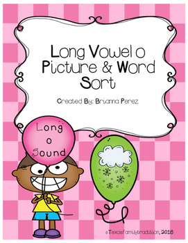 Long Vowel o Picture & Word Sort