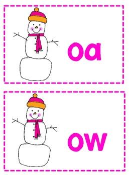 Long Vowel o Snowman Word Sort