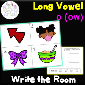 Long Vowel o ow Write the Room Activity