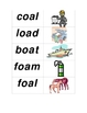 Long Vowel 'oa' Flashcards/Picture Match