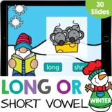 Long Vowel or Short Vowel Words Vowel Sounds Kindergarten