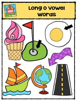 Long Vowel  O Words {P4 Clips Trioriginals Digital Clip Art}