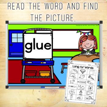 Long Vowel /u/ Hunt & Find Game