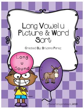 Long Vowel u Picture & Word Sort