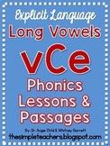 Long Vowel vCe/final silent e Explicit Phonics Lessons and Decodable Passages