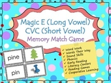 Long Vowel versus Short Vowel (CVC) - Memory Game / Matching Game {Phonics}