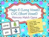 Long Vowel versus Short Vowel (CVC) - Memory Game / Matchi