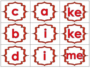 Long Vowel with Silent E Word Building Literacy Station Daily 5 Activity