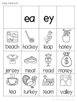 Long Vowels Word Work / Long Vowel Activities