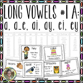 Long Vowels #1 A:  a, a_e, ai, ay, ei, and ey  Interactive Word Work