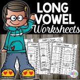 Long Vowels Worksheets Color the Sound