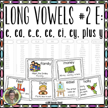 Long Vowels #2 E:  e, ee, ea, ei, ey Plus y Interactive Word Work Activities