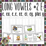 Long Vowels #2 E:  e, ee, ea, ei, ey Plus y Interactive Word Work