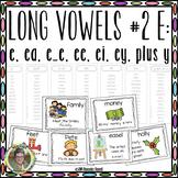 Long Vowels #2 E:  e, ee, ea, ei, ey Plus y Interactive Word Work